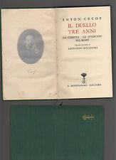 cecov - il duello - tre anni -  - edizione biblioteca romantica - marzsedis