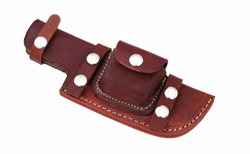 Custom Horizontal Gocca Leather Right Hand Side Sheath for Tracker Knives S4....