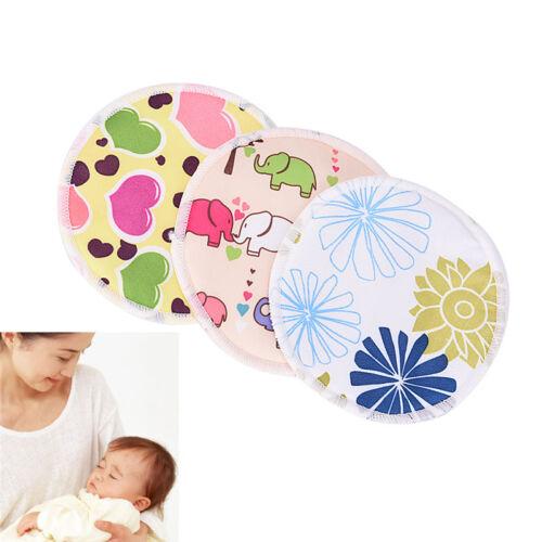 Bamboo Reusable Breast Pads Nursing Maternity Organic Washable Pad Waterproof SG