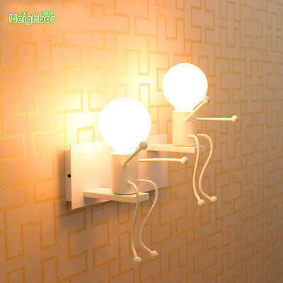 New Creative Cartoon Children Wall Lamp Kids Bedroom Bedside Led Wall Fixtures Ebay