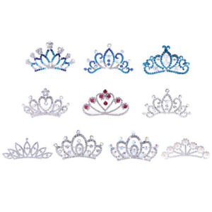 Crystal-Mini-Crown-Tiara-Girls-Woman-Fancy-Dress-Hair-Comb-Wedding-Party-Gift