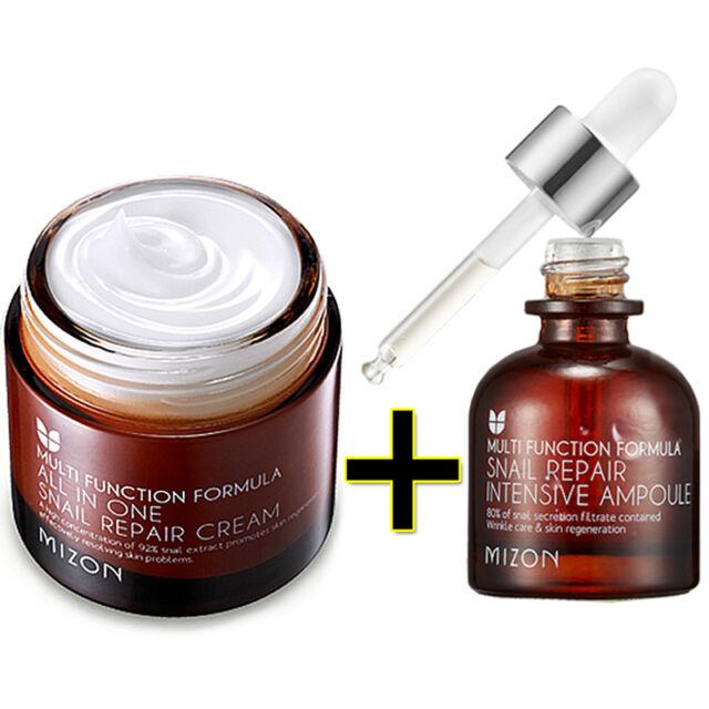[Mizon] All In One Snail Repair Cream 75ml + Snail Repair Intensive Ampoule 30ml