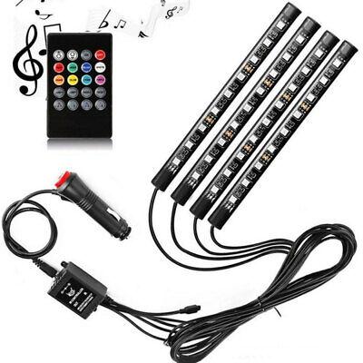 48 LED RGB Atmosphere Interior Footwell Strip Light Decor Lamp KIT USB Port 12V