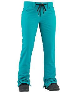 2017-NWT-WOMENS-AIRBLASTER-FANCY-PANT-M-teal-slim-fit-waist-adjustable
