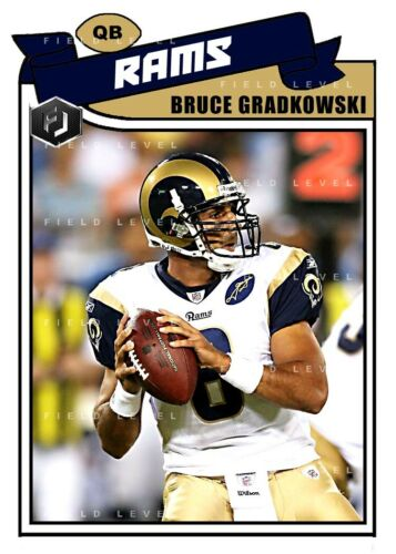 LOUIS RAMS CUSTOM HAND MADE ART CARD ACEO BRUCE GRADKOWSKI ST
