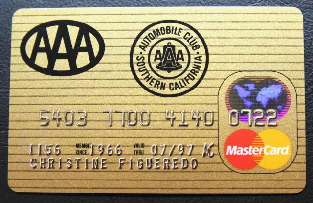 Aaa Mastercard Login >> Mastercard From Aaa Credit Card 1997 Ebay