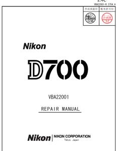 Details about Nikon D700 Service Repair Manual