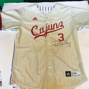 innovative design 0889b d9b7f Details about Ron Guidry Twice Signed Louisiana Ragin' Cajuns College &  Yankees Jersey JSA COA