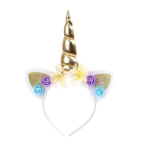 Magical Unicorn Horn Head Party Hair Headband Fancy Dress Cosplay Decorative  X