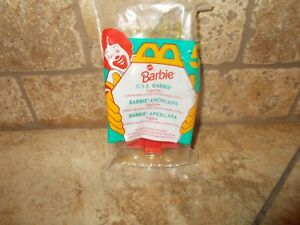 McDonald-039-s-Happy-Meal-BARBIE-5-U-S-A-Barbie-1995-New-A01