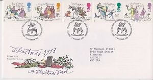 GB-ROYAL-MAIL-FDC-FIRST-DAY-COVER-1993-A-CHRISTMAS-CAROL-STAMP-SET-BUREAU-PMK