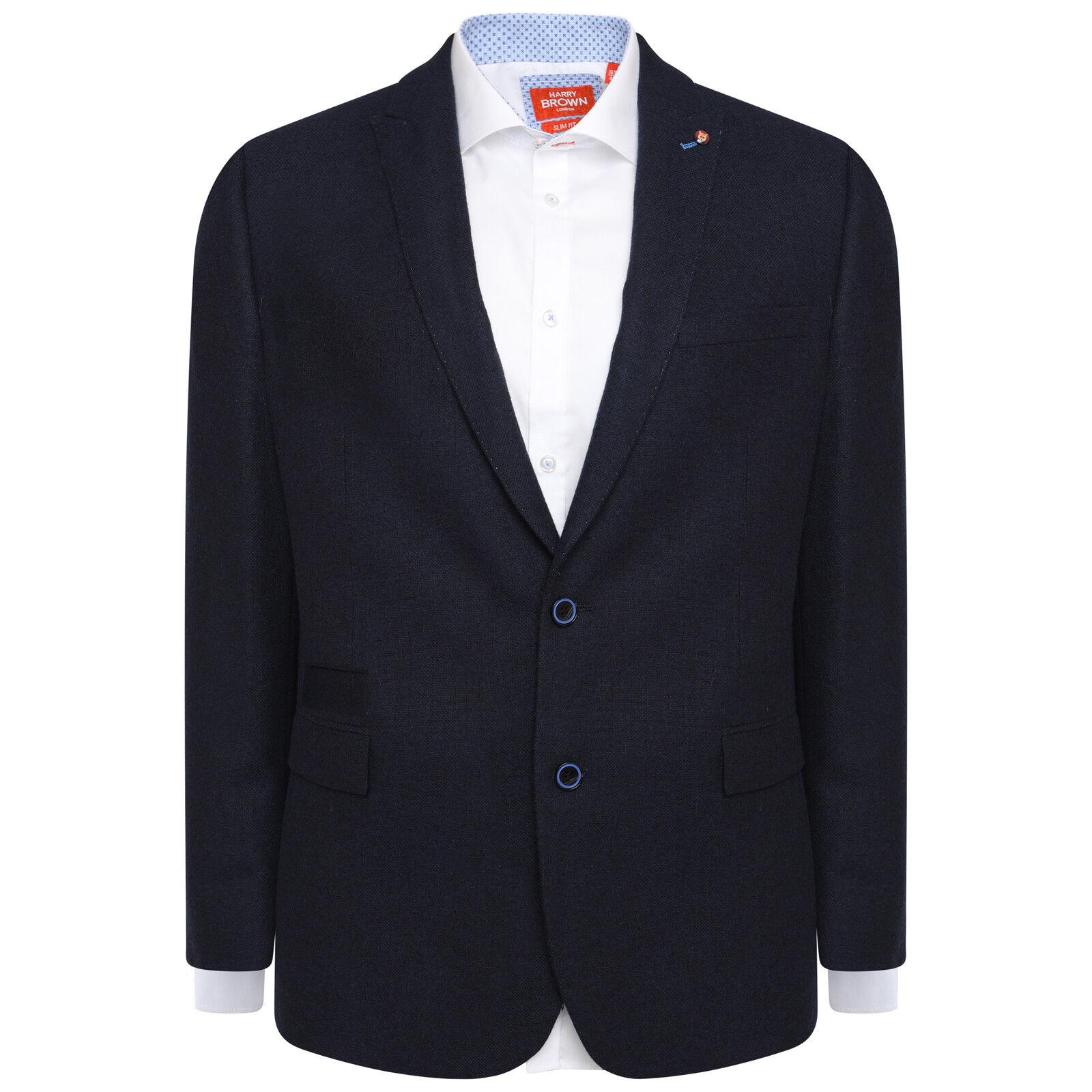 Harry Braun Wool Blend TailoROT Fit Blazer in Navy