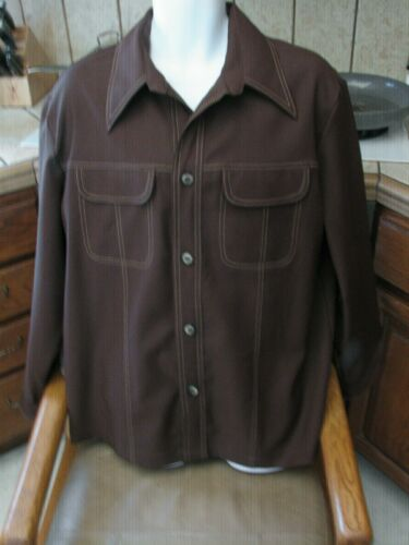 1970's Disco Polyester Jacket shirt Men's XL JC Pe