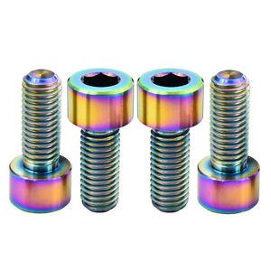 10 Pcs M8x25x1.25 Colorful Bicycle Titanium Ti Socket Cap Head Allen Hex Bolts