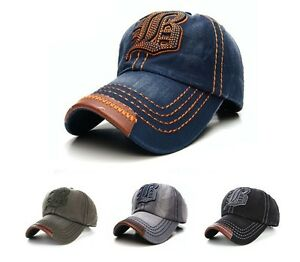NEW-Casual-BASEBALL-CAP-JB-HAT-SNAP-BACK-Size-Adjustable-Strap-Unisex-Mens-Women