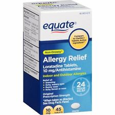 Equate Loratadine 10Mg Non-Drowsy 24 Hour Allergy Relief 45 ct