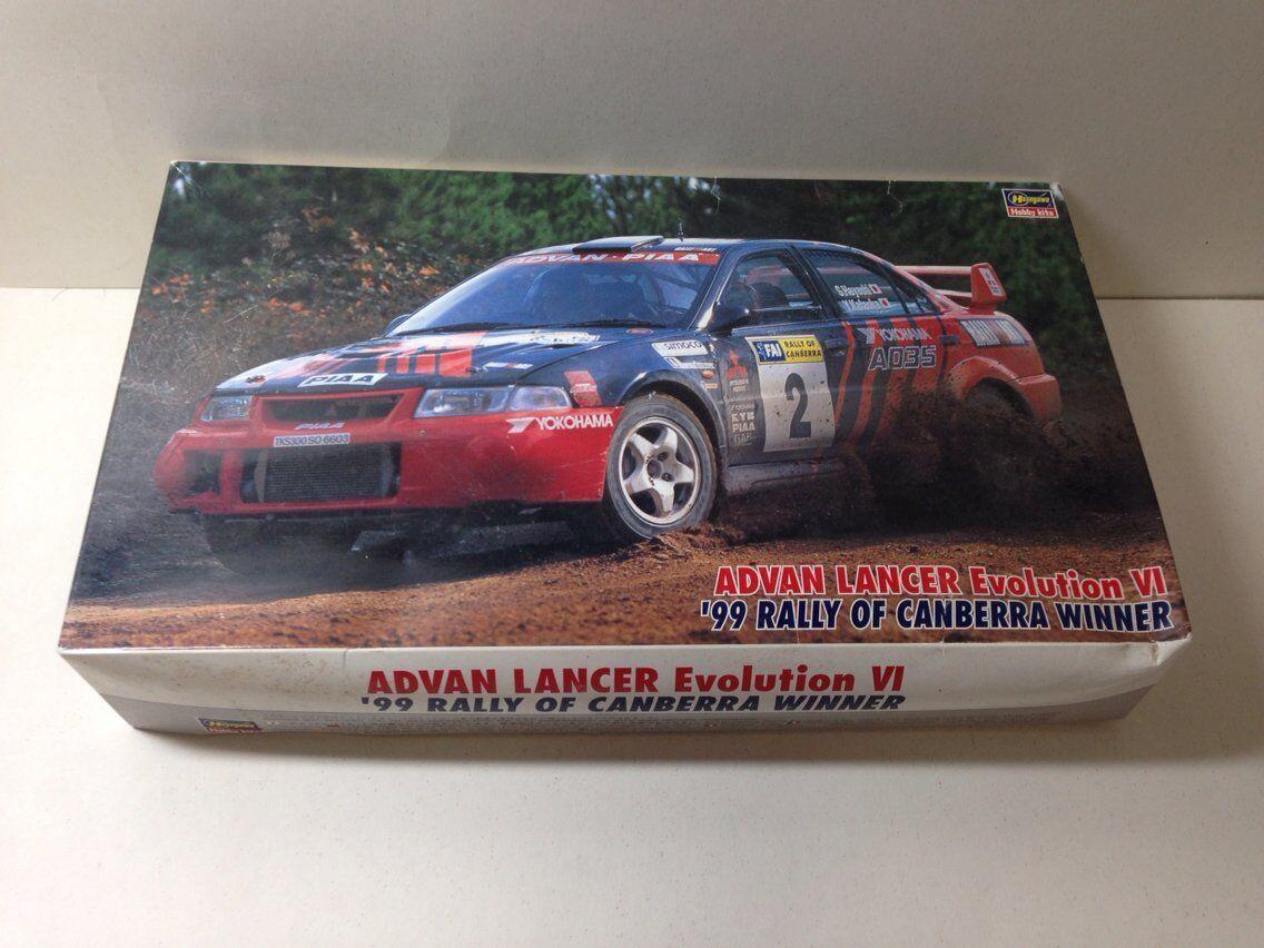Hasegawa 1/24 ADVAN Lancer Evolution VI'99 Rally de Canberra ganador de Japón