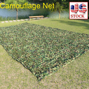 Camouflage-Camo-Army-Green-Net-Netting-Camping-Military-Hunting-Woodland-Leaves