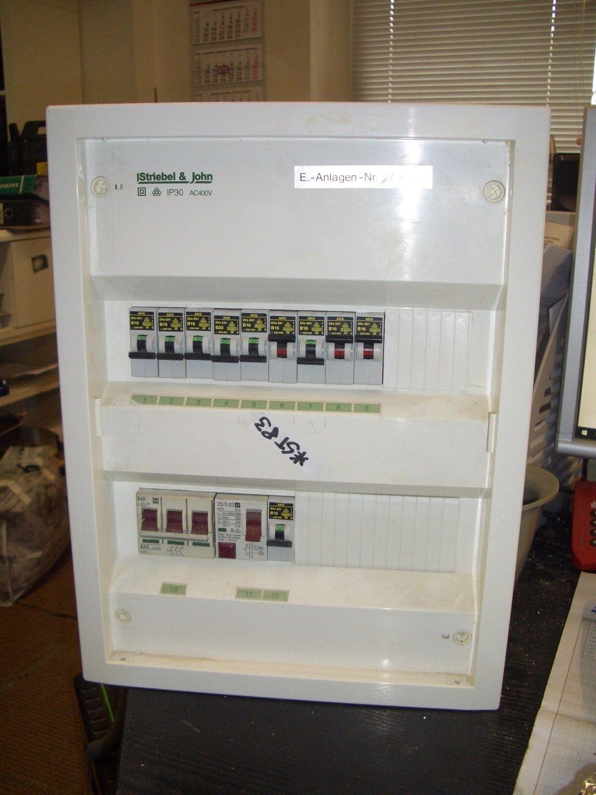 STRIEBEL & JOHN JOHN JOHN IP30 Sicherungskasten 1x63A, 1x25A Nr. ST83 | Lassen Sie unsere Produkte in die Welt gehen  eadfad