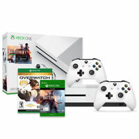 Microsoft Xbox One S 500GB Console Battlefield 1 Bundle (White) + Wireless Controller + Overwatch