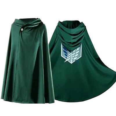 Anime Shingeki no Kyojin Cloak Cape Clothe cosplay Attack on Titan 160-185cm (H)