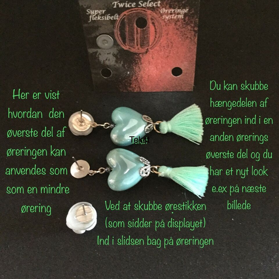 Øreringe, bijouteri, Twice Select