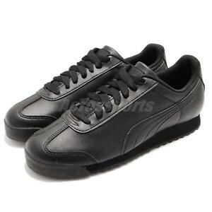 Puma-Roma-Basic-Triple-Black-Men-Running-Walking-Casual-Shoes-Sneakers-353572-17
