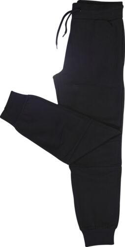 More Mile Brushed Fleece Boys Joggers Black Stylish Kids Sweatpants Ages 7-14