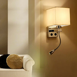 image is loading modern led cloth wall lamp wall sconce light bedside sconce lighting