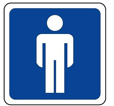 Cartello alluminio segnaletica toilette uomo wc men aluminium sign 210x52,5 mm