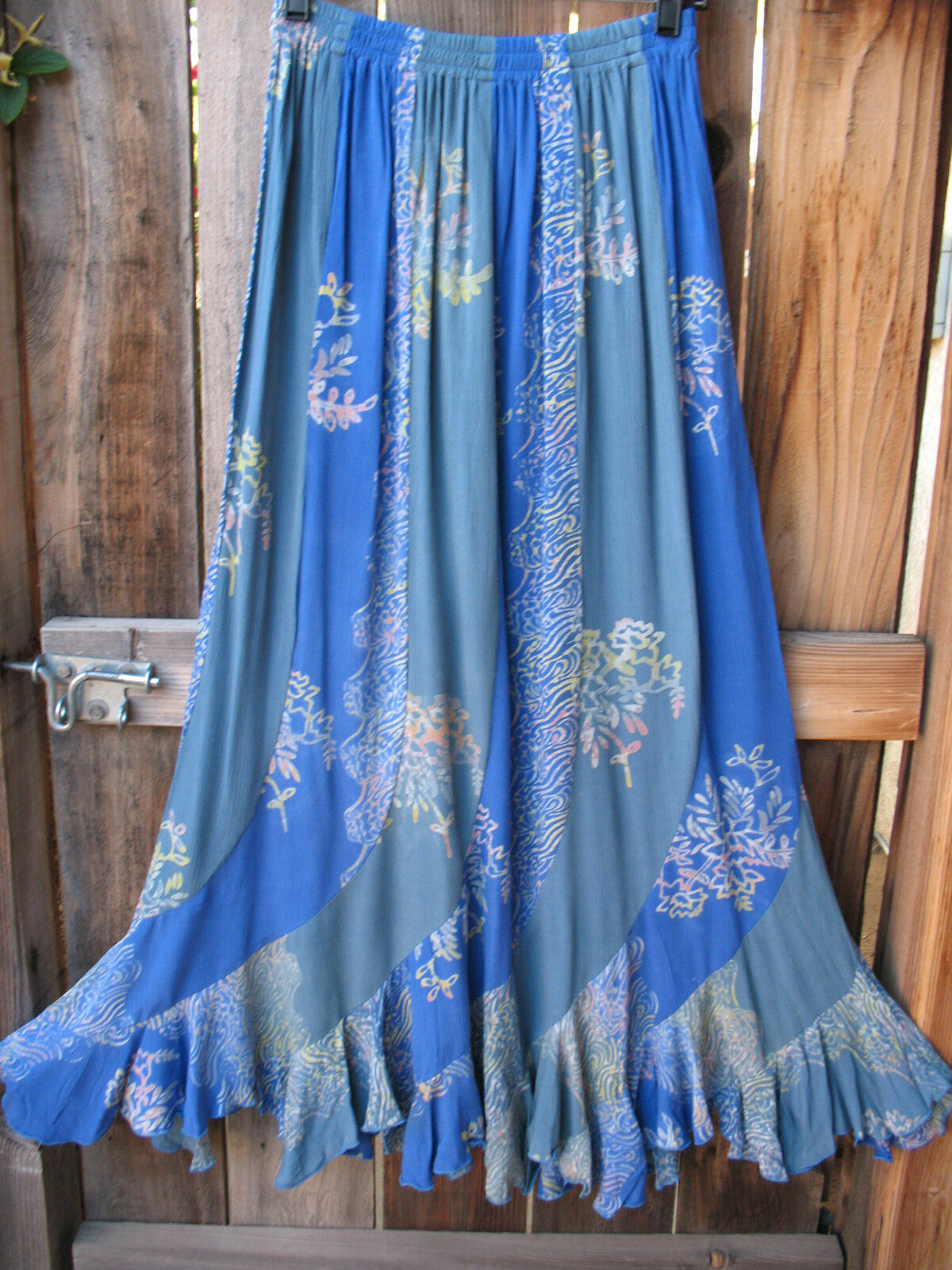 ART TO WEAR MISSION CANYON FLIRTY 30 SKIRT IN ALL NEW RIVER blueE, OS, NWT
