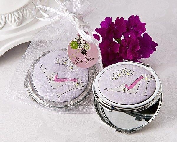 180 Sassy Talon Aiguille Compact Miroir Mariage Bridal Shower Favors