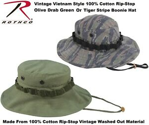 83407b03b59 Tiger Stripe   Olive Drab Vietnam Era Military Rip-Stop Wide Brim ...