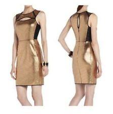 Brand New BCBG Max Azria Gold Combo BREONA Sequined Sheath Dress