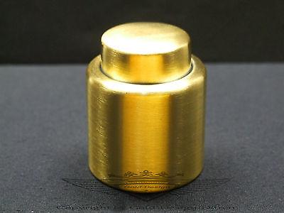 Flaschenverschluss, Weinverschluss, 24 Karat vergoldet,