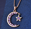 miniature 20 - Star Moon Necklace Silver Crystal Jewellery 925 Chain Pendant Gift Woman Girl CZ