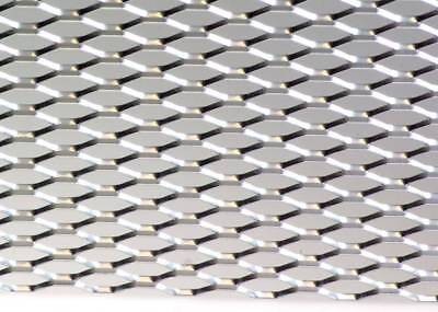 "12"" X 47"" UNIVERSAL SILVER ALUMINUM DIAMOND MESH for your CUSTOM GRILL GRILLE"