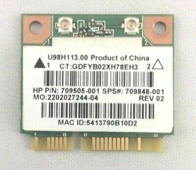 HP Pavilion 15-F Series Wireless WiFi Card U98H113.00 709505-001 709848-001