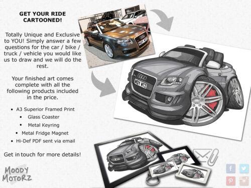 Koolart Cartoon Car Honda Civic Leather and Chrome Keyring