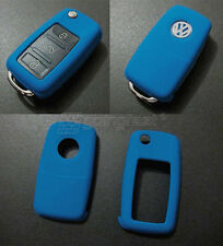 VW Car Remote Flip Key Cover Case Skin Shell Cap Fob Protection ABS BLUE  -2009