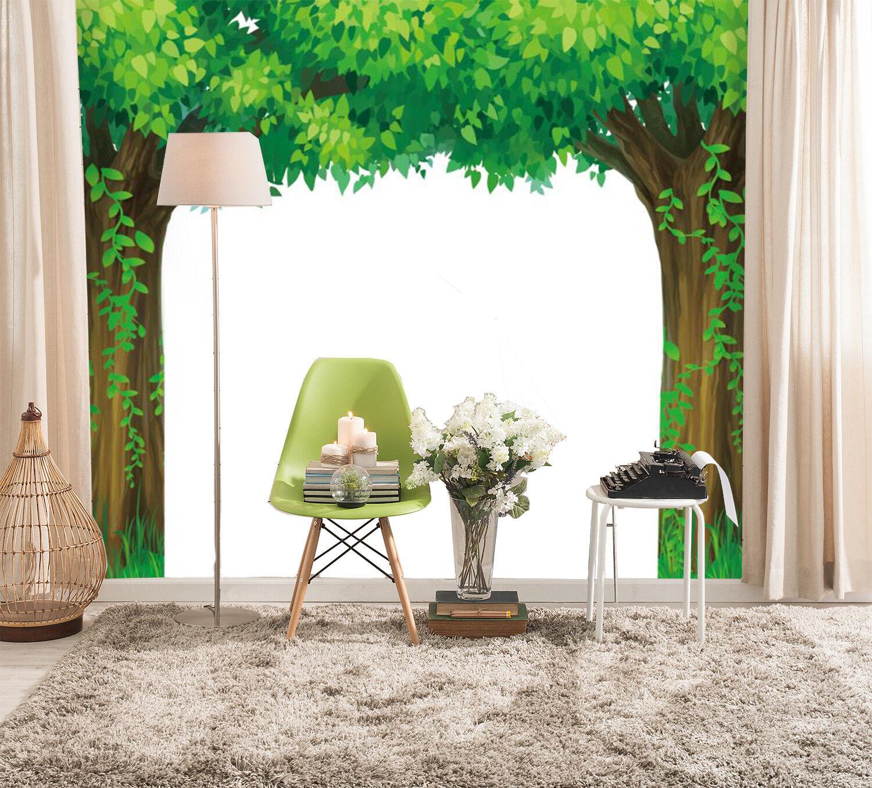 3D Green Tree Vine 7 Wall Paper Murals Wall Print Wall Wallpaper Mural AU Summer
