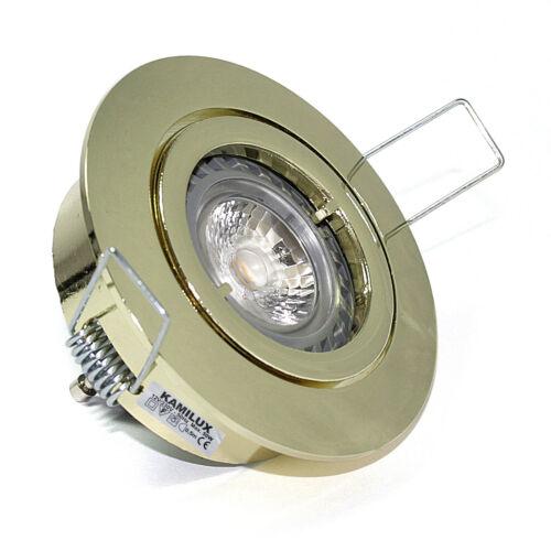 LED Hoch 230V KAMILUX Einbaulampe Bajo für Halogen 12V Niedervolt