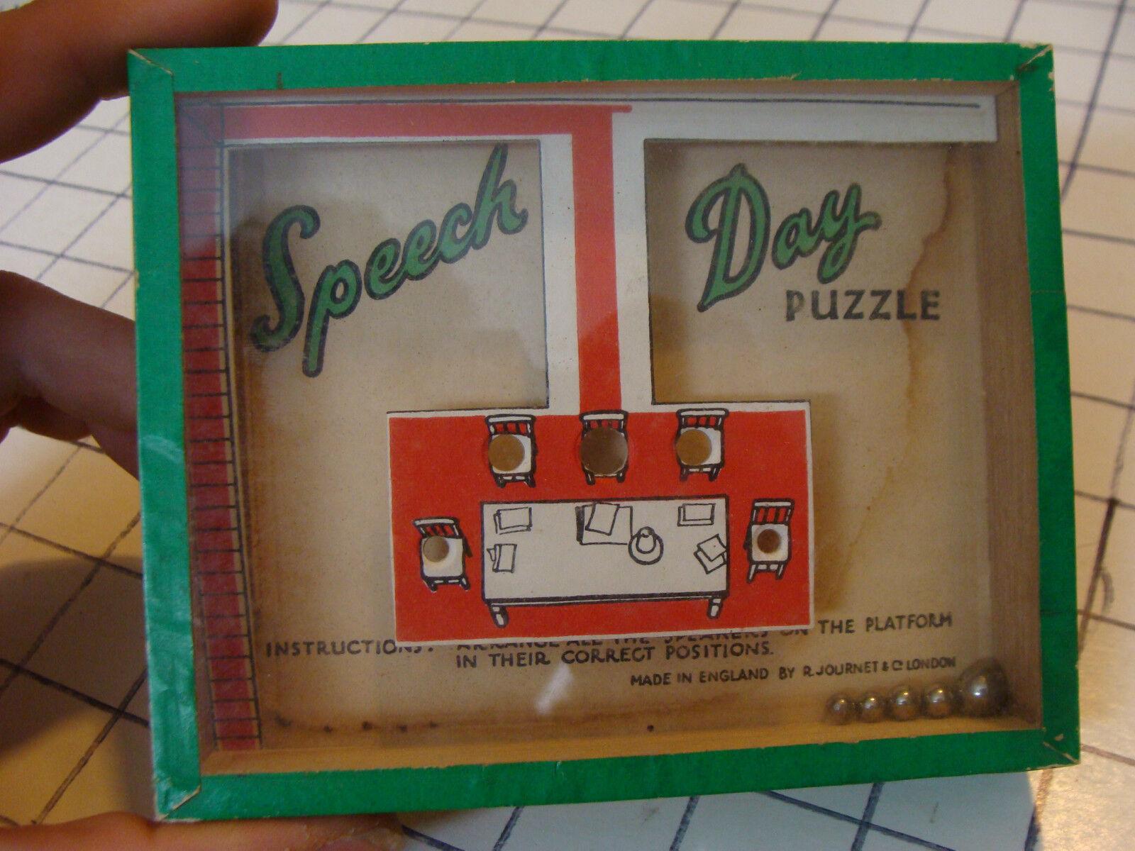 VINTAGE GAME puzzle  DEXTERITY PUZZLE--SPEECH DAY r j series England