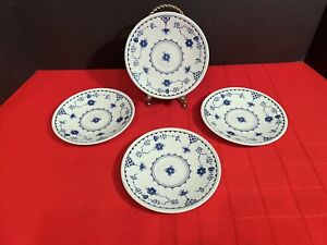 Johnson-Brothers-DENMARK-BLUE-Set-4-Saucers-England