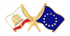 Unione Europea Eu Gibilterra Bandiera Amicizia Cortesia Spilla