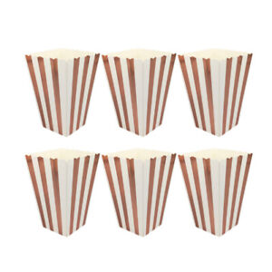 12-48Pcs-Rose-Gold-Striped-Popcorn-Boxes-Bags-Kids-Party-Treat-Boxes-Supplies