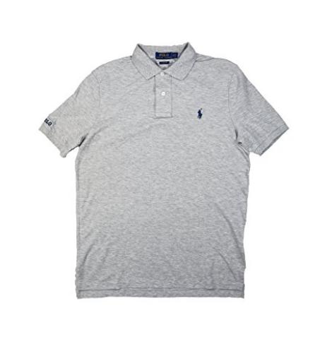 RALPH LAUREN Chemise homme en coton brodé Rugby Polo Shirt, sprn hethr, XXL