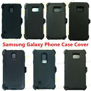 Black-For-Samsung-Galaxy-Phone-Case-Cover-w-Belt-Clip-fits-Otterbox-Defender