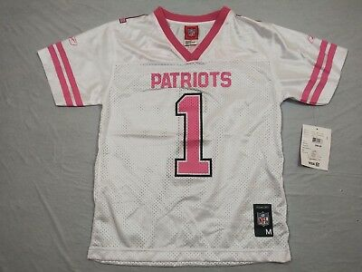 M153 New NWT NFL New England Patriots Pink White #1 Team Jersey Youth Sizes | eBay