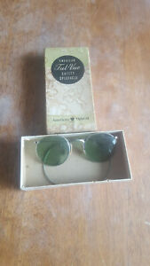 VINTAGE-ANTIQUE-AMERICAN-OPTICAL-AO-FUL-VUE-23-SAFETY-GOGGLE-SUNGLASSES